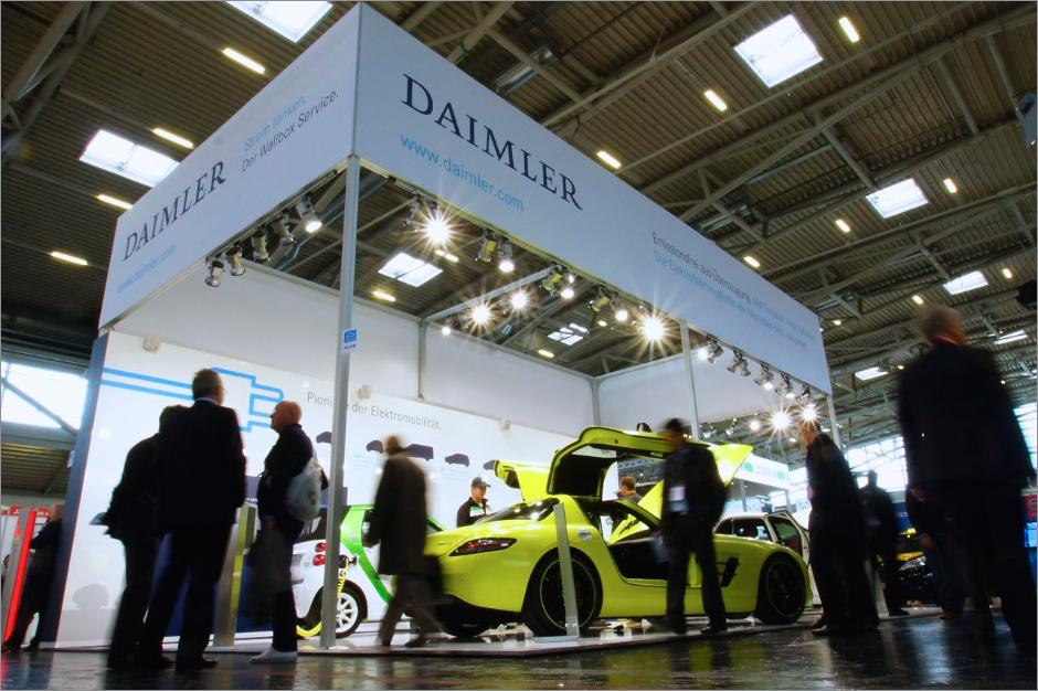 Daimler 品牌设计 电动混合动力汽车 展会