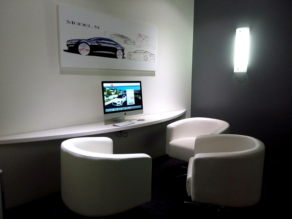 Tesla展厅 VIP洽谈室