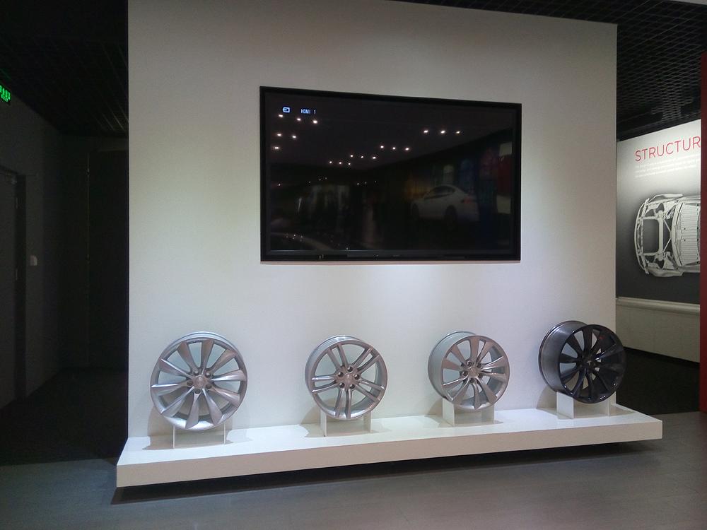 轮毂展示区 展厅LED背景墙